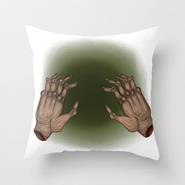 Staying warm Throw Pillow