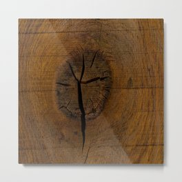 The Wood Knot Metal Print