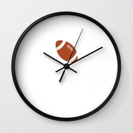 Proud and Loud Football Mom Funny Sports T-shirt Wall Clock