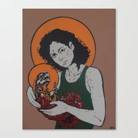 ripley Canvas Prints featuring holy ripley by Just Sprayed