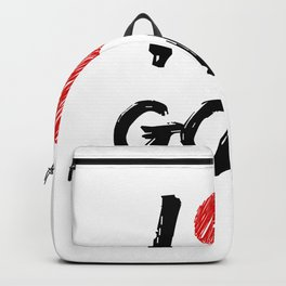 I Love Golf Backpack