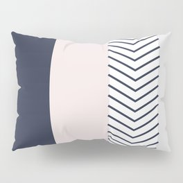 Navy Blush and Grey Arrow Pillow Sham