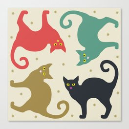 Cats and Cream Canvas Print