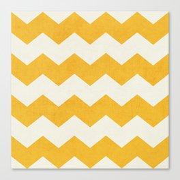 chevron - yellow Canvas Print