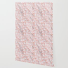 Hearts Rose Gold Marble Wallpaper