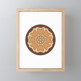 White Lotus Tile Framed Mini Art Print