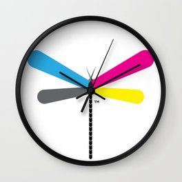 LibelluleMonde Logo Wall Clock