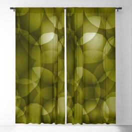 Dark intersecting translucent olive circles in bright colors with an oily glow. Blackout Curtain