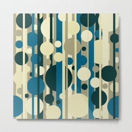 Stripes and circles color mode #5 Metal Print