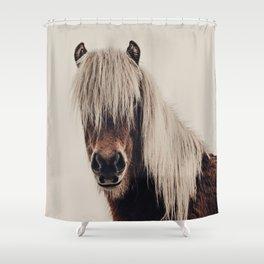 Hi, I'm a Scottish Horse Shower Curtain