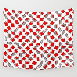 Polka Dot Books Pattern II Wall Tapestry