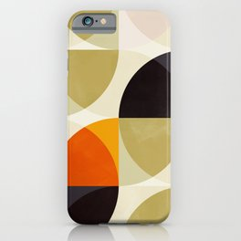 mid century color geometry shapes iPhone Case