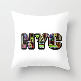 NYC (typography) Throw Pillow