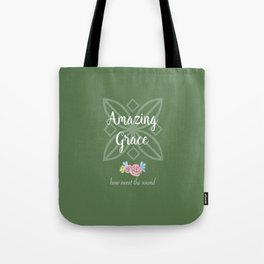 Green Amazing Grace Tote Bag