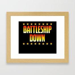 Battleship Down Framed Art Print