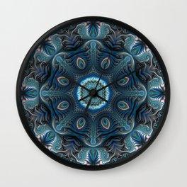 Mysterious space mandala Wall Clock
