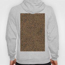 Little wild cheetah spots animal print neutral home trend rust copper black  Hoody