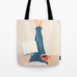 Morning Read Tote Bag