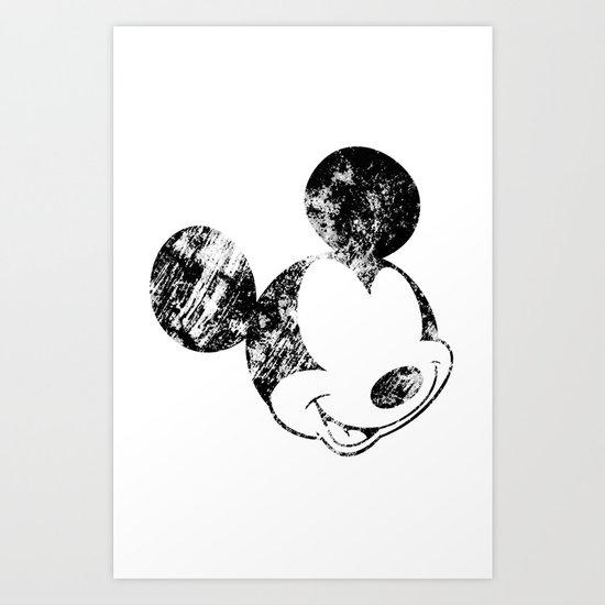 Mickey Grunge Art Print
