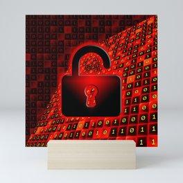 Unprotected data Mini Art Print