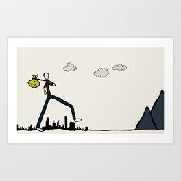 Run-Away Art Print