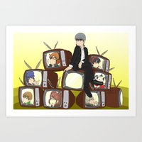 persona 4 Art Prints featuring Persona 4 by timehwimeh