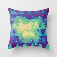 Space triangles 01 Throw Pillow