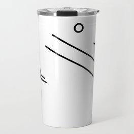 volleyball clench wet Travel Mug