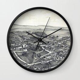 Clifton Springs - New York - 1892 Wall Clock