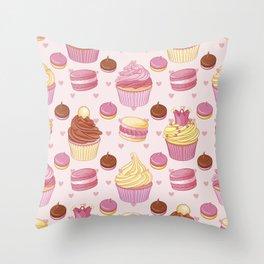 Pink Dessert Throw Pillow
