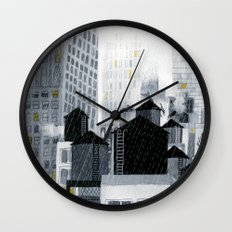 Rainy New York City Wall Clock