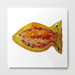 Watercolor Fish I Metal Print