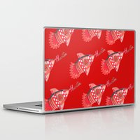 nba Laptop & iPad Skins featuring ROCKETS HAND DRAWING DESIGN by SUNNY Design