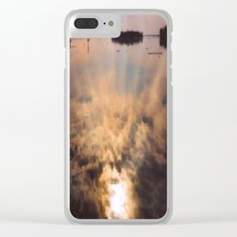spring reflection Clear iPhone Case