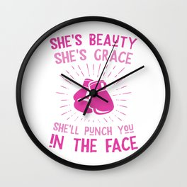 Beauty Grace Punch you in the face Wall Clock