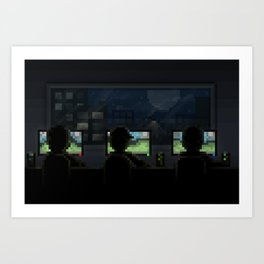LAN party Art Print