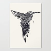 plain Canvas Prints featuring HummingBird Plain by efan