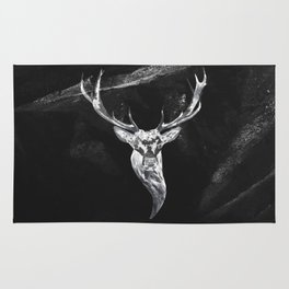 Deer in a montain Rug