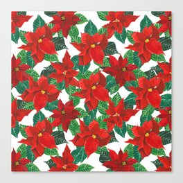 Christmas Flowers Canvas Print