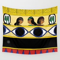 egyptian Wall Tapestries featuring Egyptian Girls by Yatasi