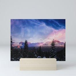 Stormy Skies over Mt. Shasta Mini Art Print