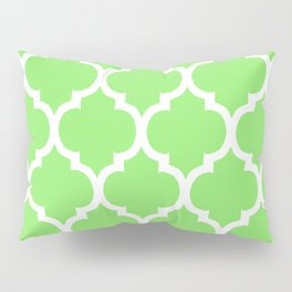 MOROCCAN LIME GREEN AND WHITE PATTERN Pillow Sham