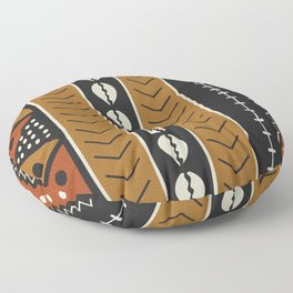 Let's play mudcloth Floor Pillow