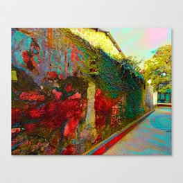 Old wall of the ancient city Canvas Print