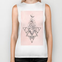 Roses in Moonlight Pink Biker Tank
