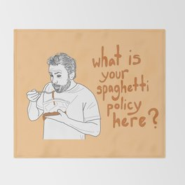 Charlie Kelly - Spaghetti Policy Throw Blanket