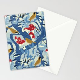 North American Forest Pattern (Blues) Stationery Cards