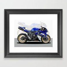 Yamaha R1 blue Framed Art Print