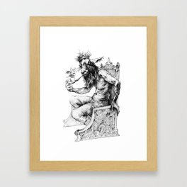 Goat King Framed Art Print