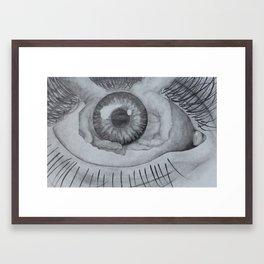 eye lift Framed Art Print
